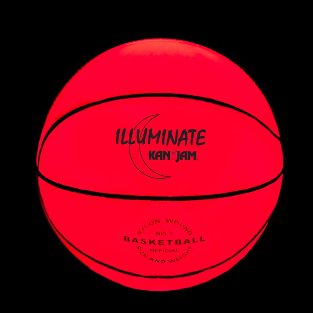 Glow in the dark basketbal