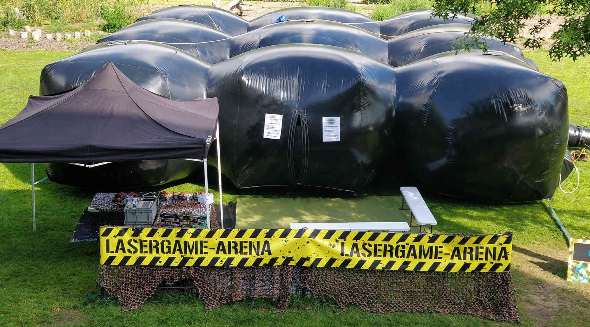 Mobiele lasergame arena